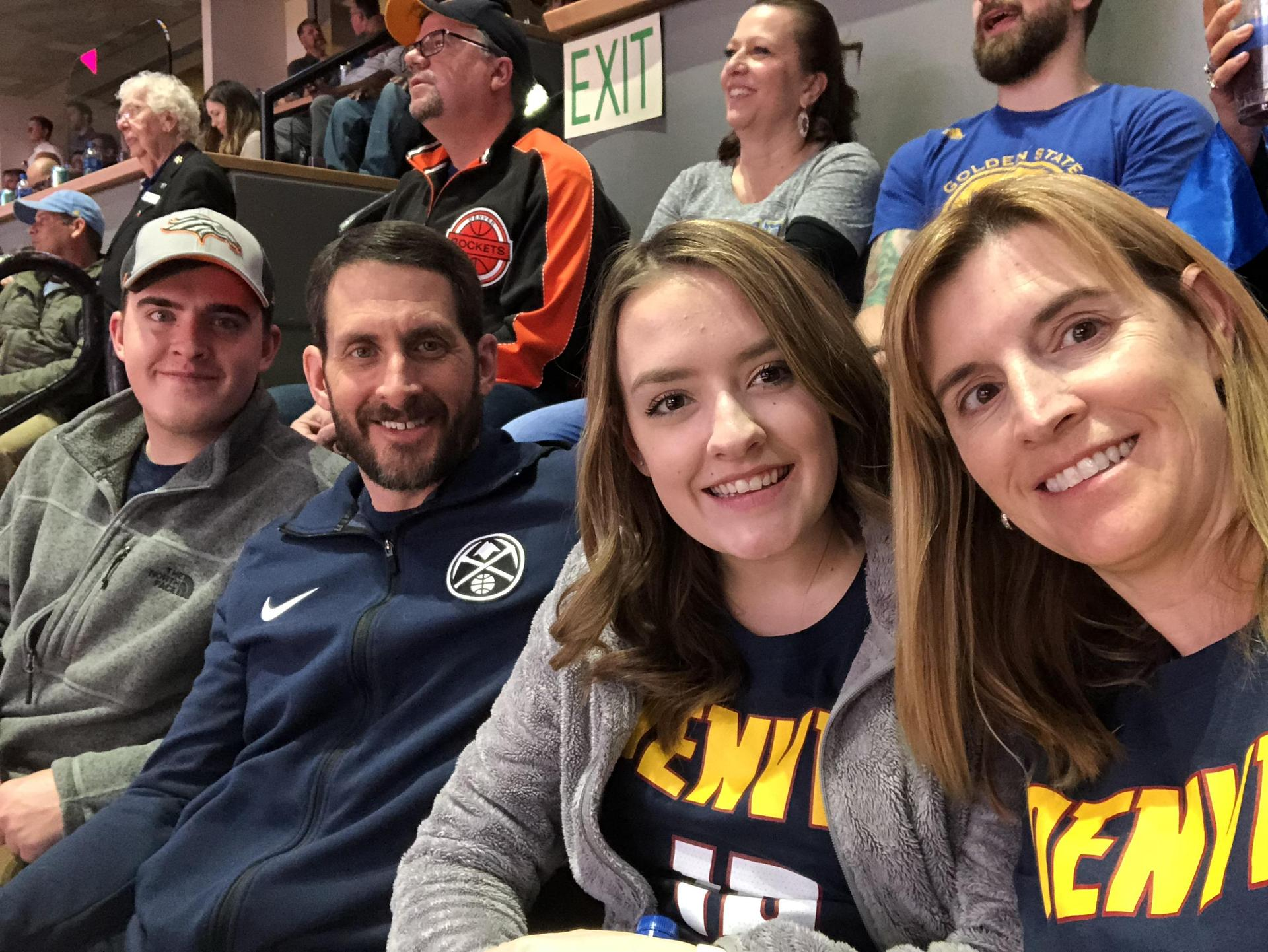 Family fun at the Nuggets, 2019