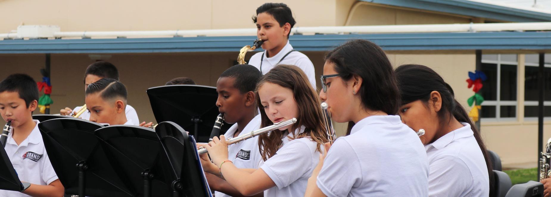 Creativity, Member of the MSD Band playing music