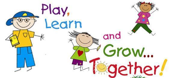 Clip art of children playing