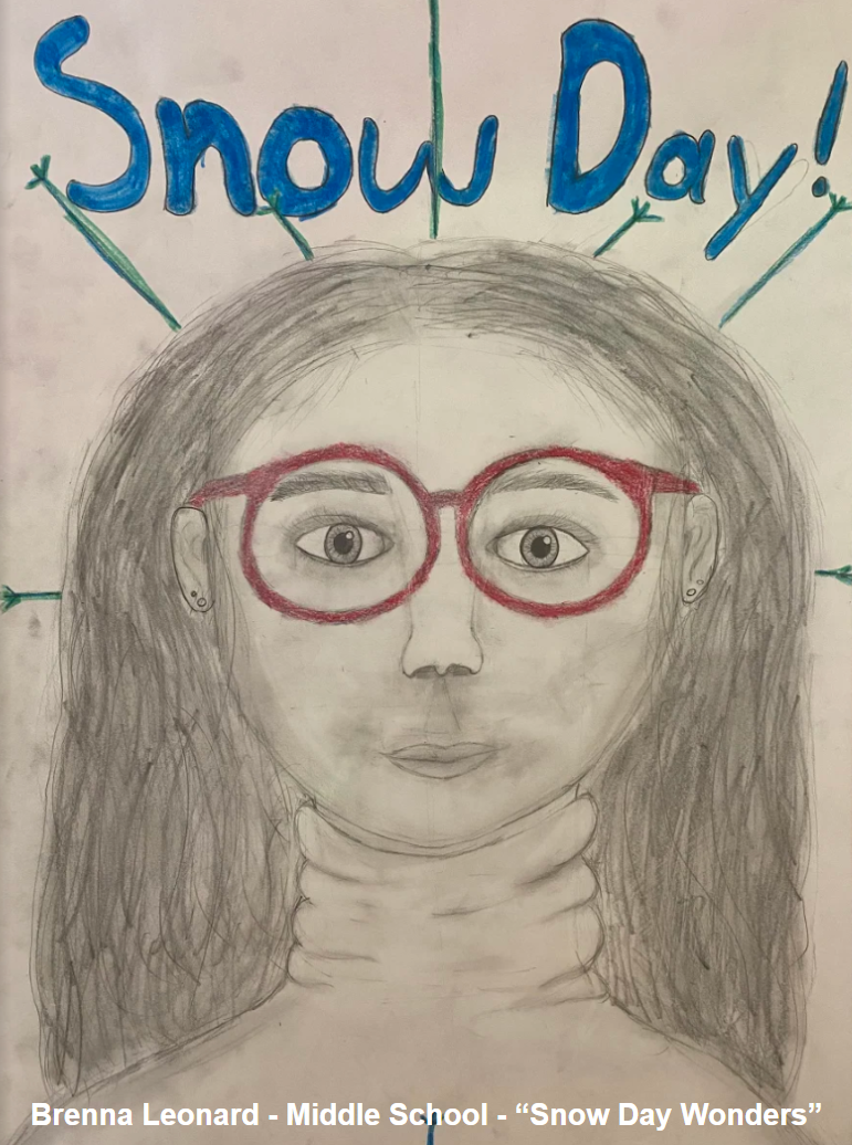 Brenna Leonard - Middle School - Self Portrait