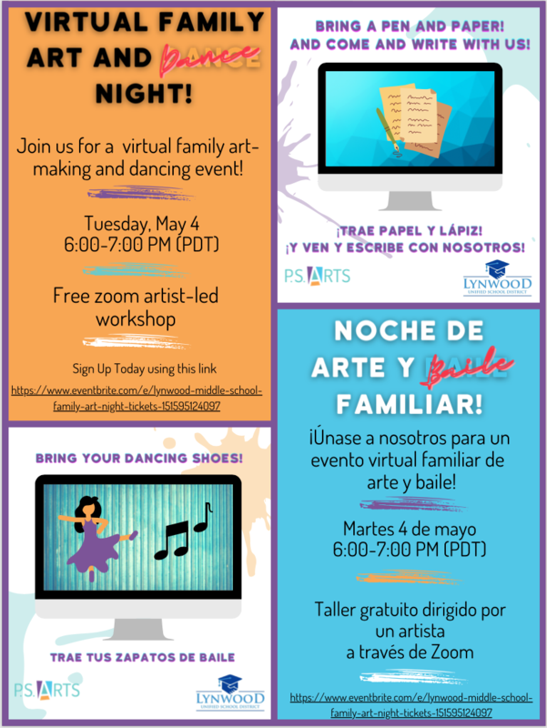 Family Arts Night, May 4th Featured Photo