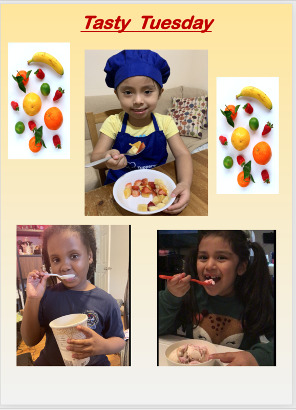 Students eating for