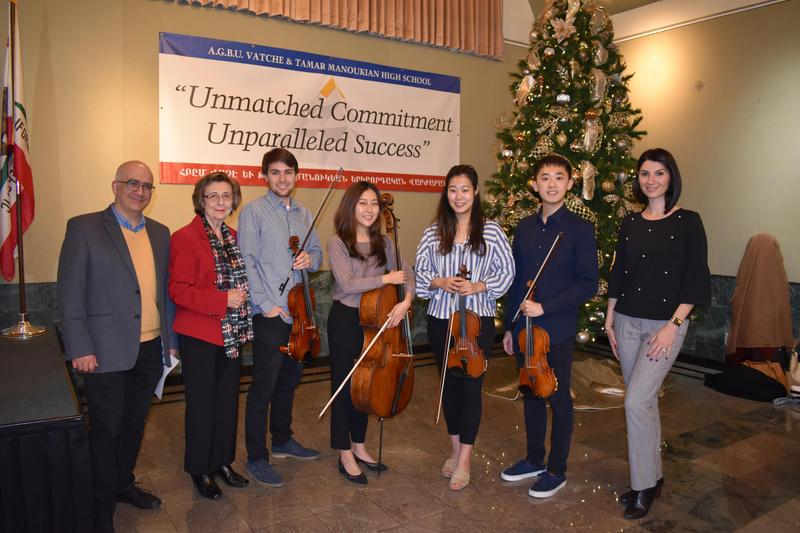 UCLA VEM Ensemble performs for AGBU MHS Students Featured Photo