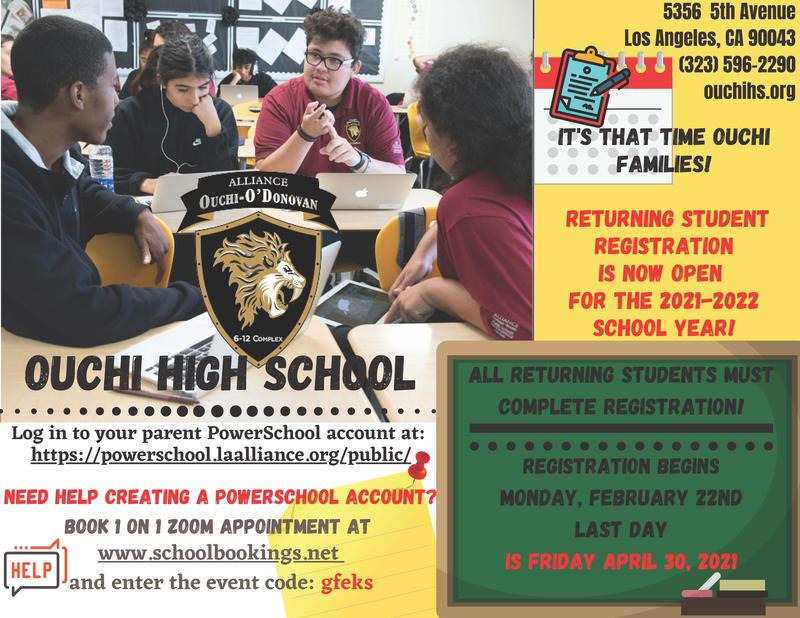 Returning Students Registration! Thumbnail Image