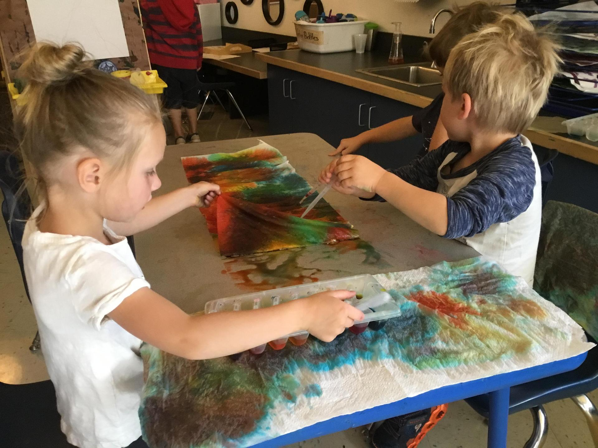 Color mixing provocation