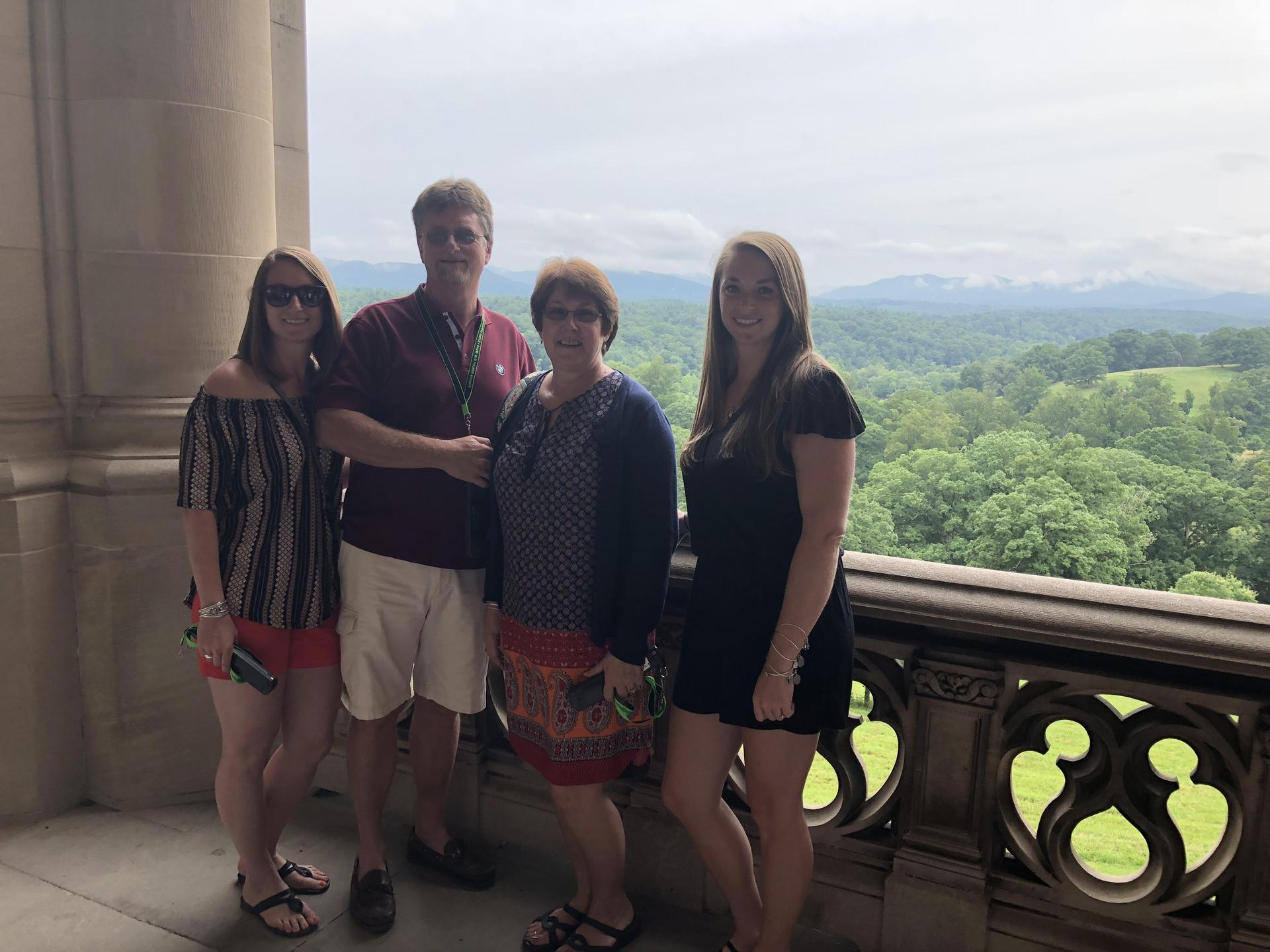 Miss Bentley and her family in Asheville, North Carolina