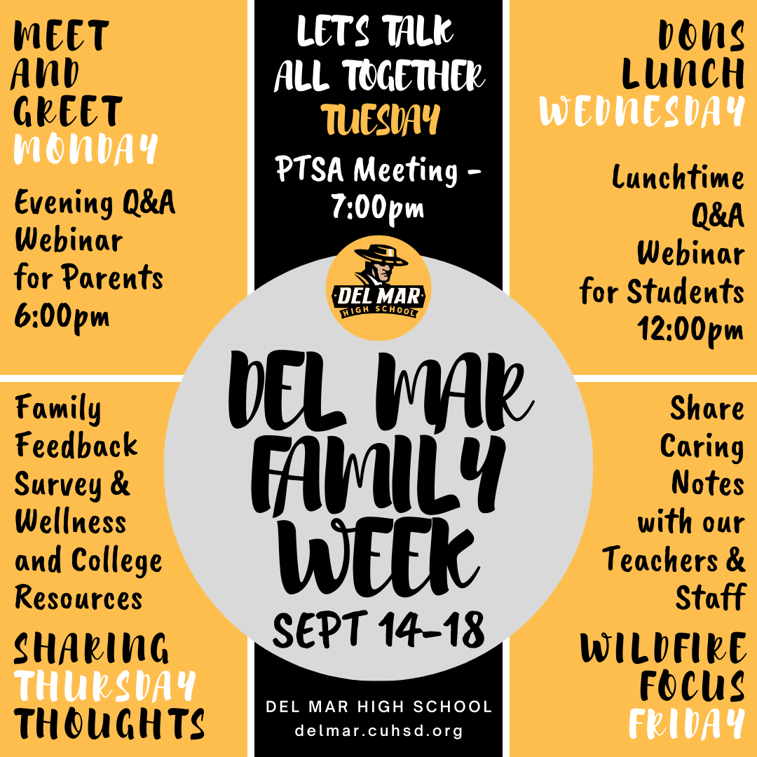 image of del mar family week events, sept 14 to 18, 2020