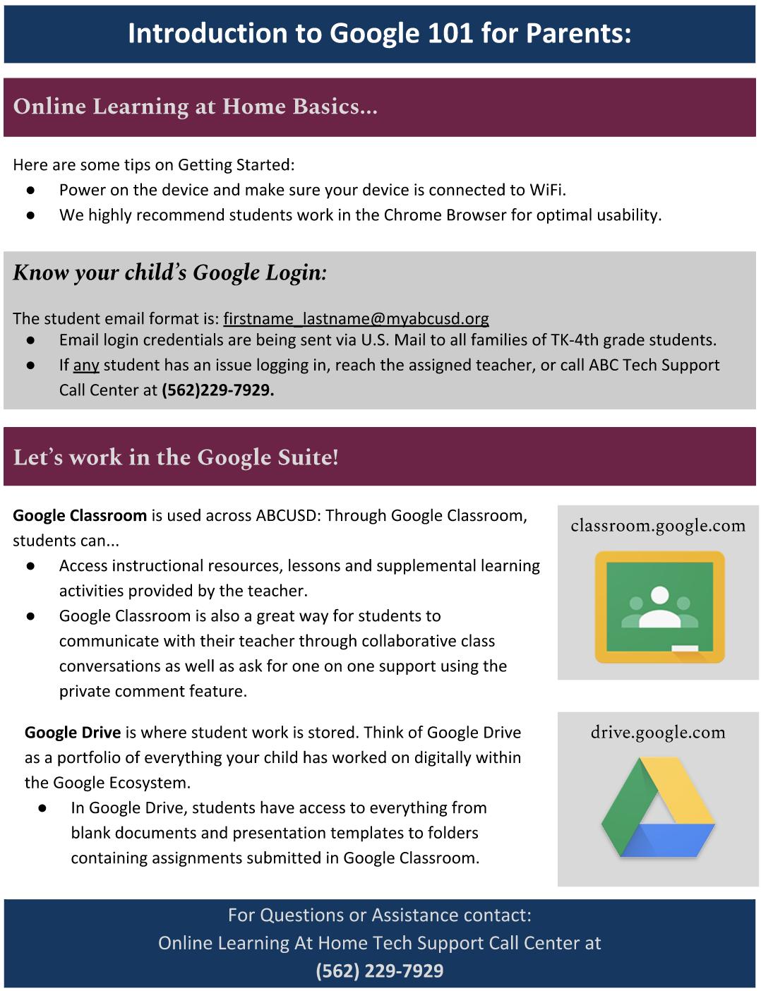 Google 101 for Parents