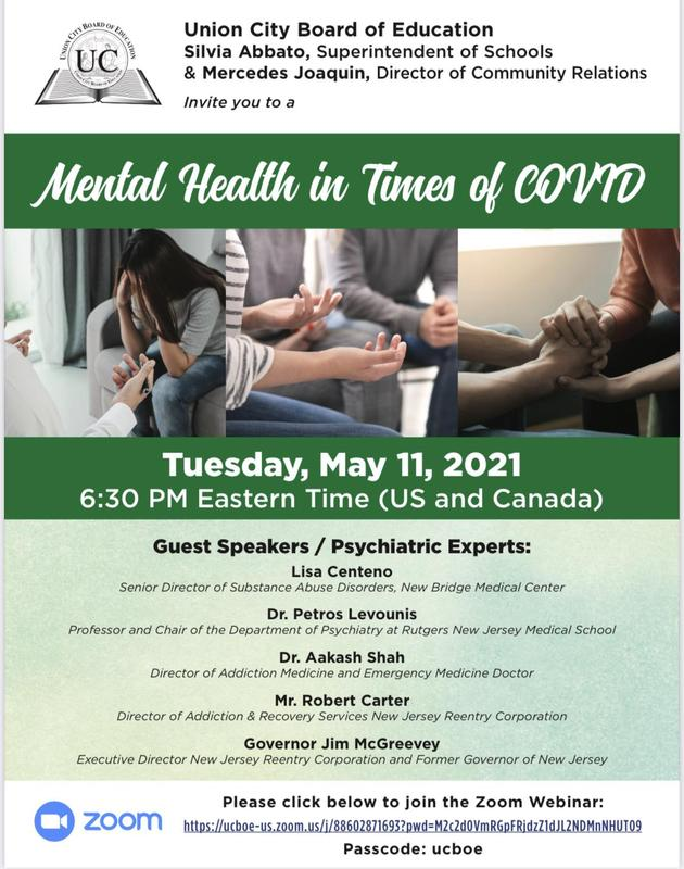 Mental Health in Times of COVID flyer