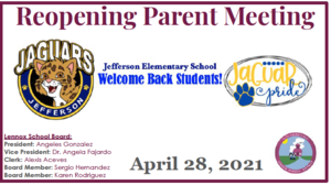 Parent Meeting Picture