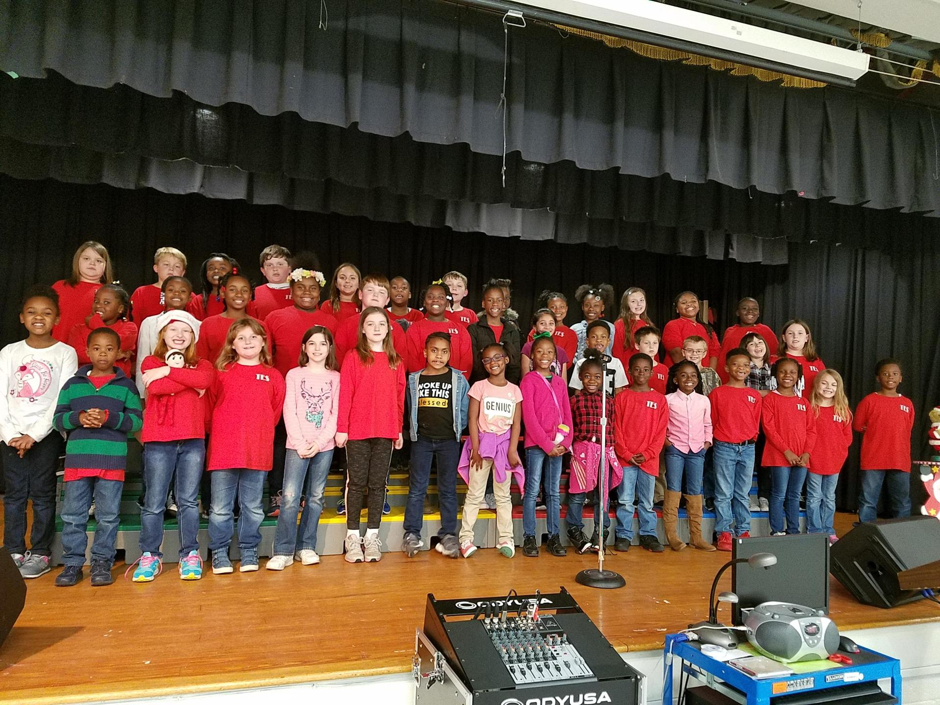 TES Choir on Stage