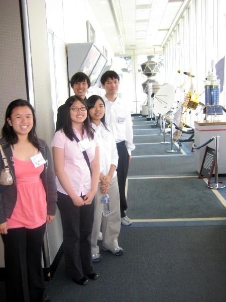 Five students touring NASA
