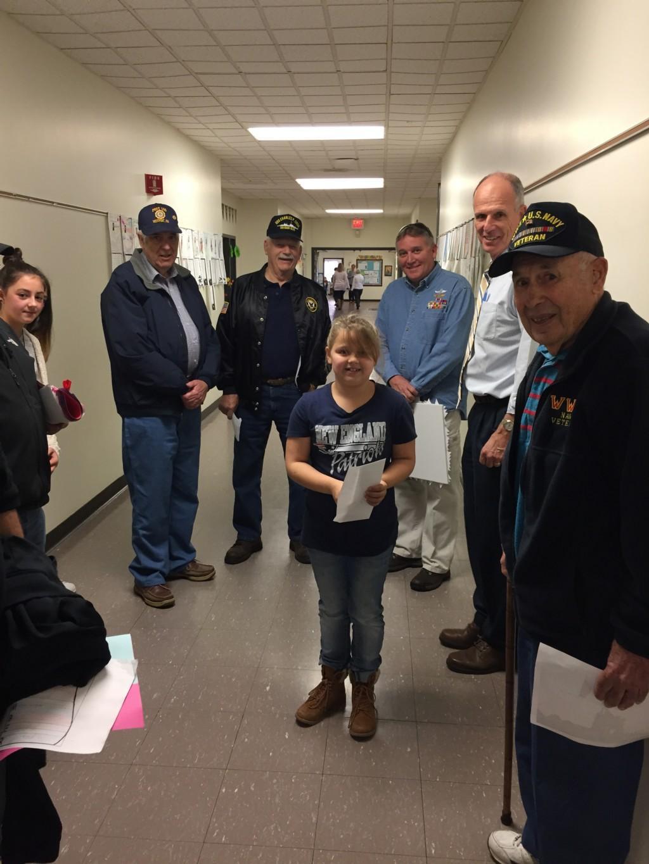 Ella B sharing with the Veterans