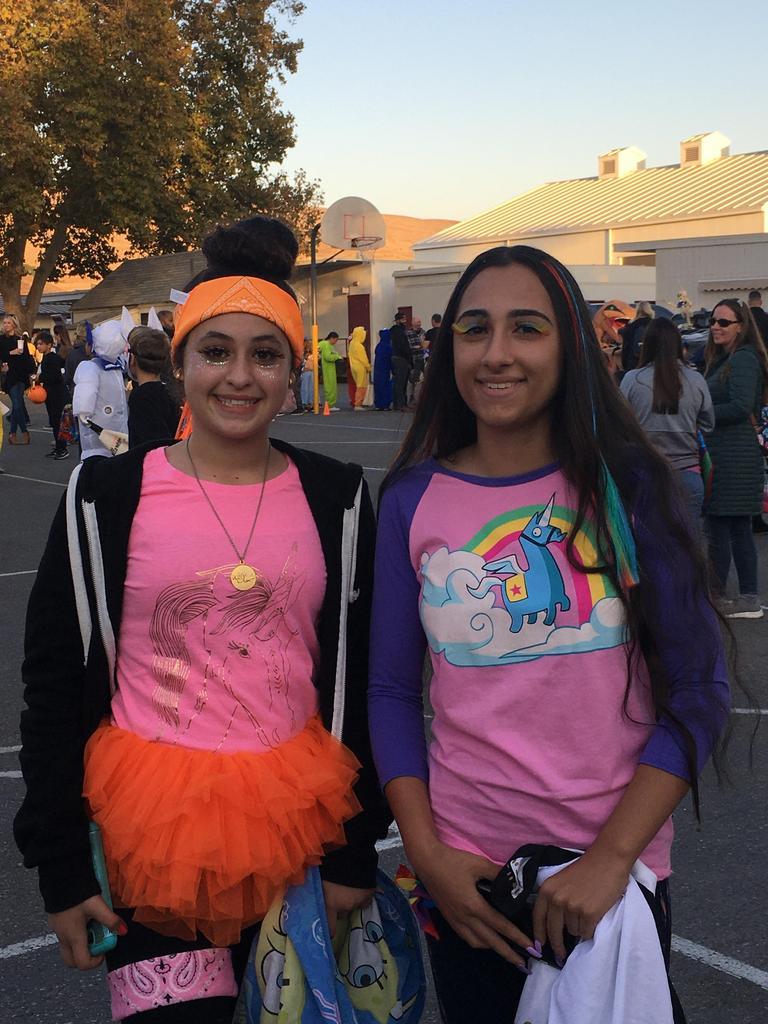 teens dressed for halloween