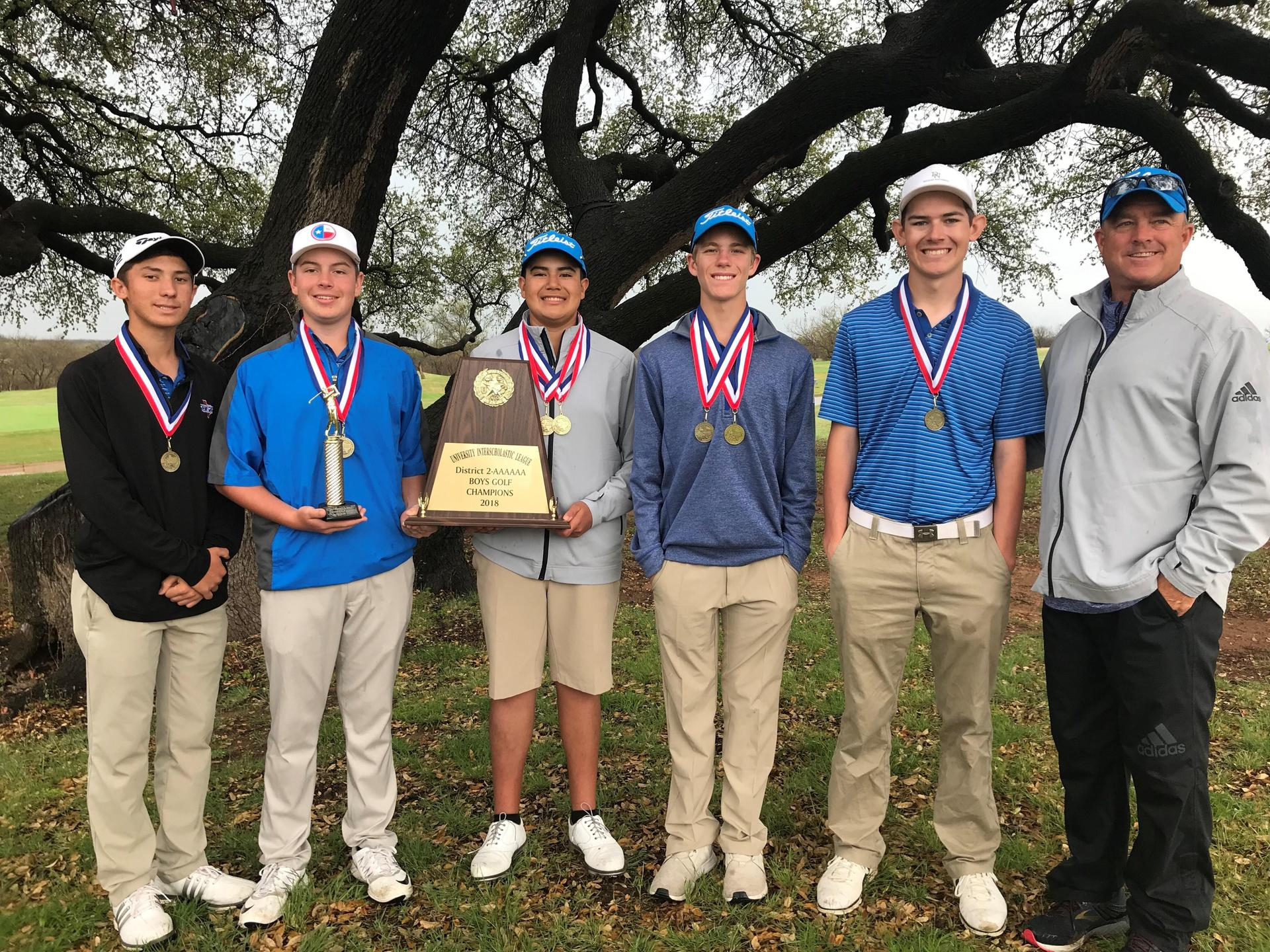Frenship Boys Golf 2018 District Champions