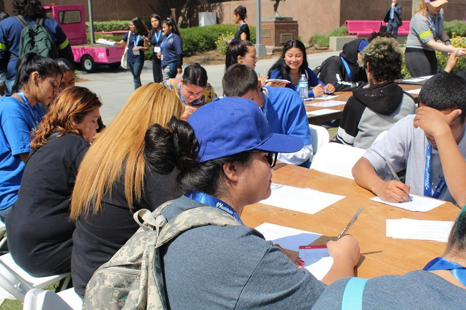 LA CAUSA students working on a project