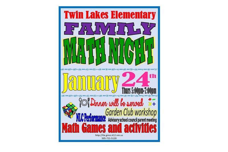 Twin Lakes Math Night
