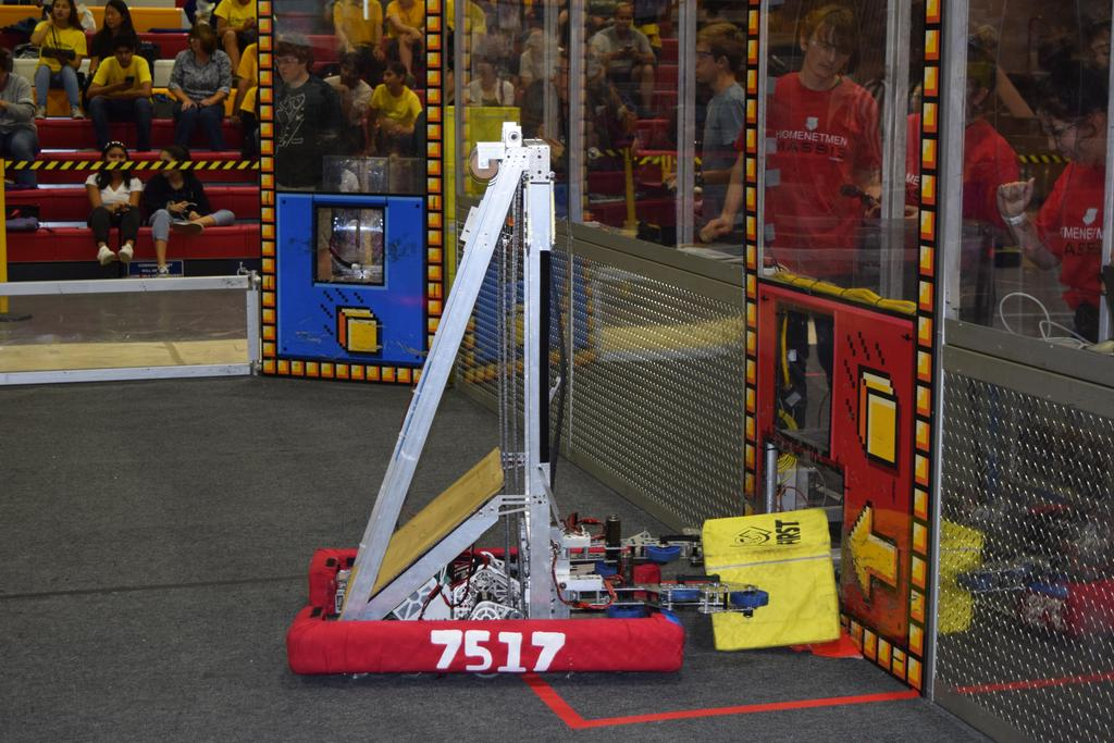 Practice bot (7517) delivering Power Cube to human player