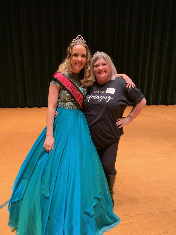 Sarah Triolo and her mentor Jennifer Randolph pose with their tiaras.