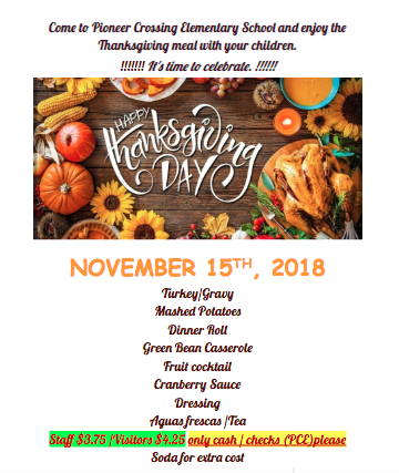 RSVP for PCE's Thanksgiving Feast! Thumbnail Image