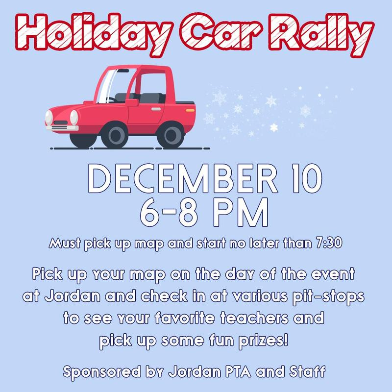 Holiday Car Rally Flyer