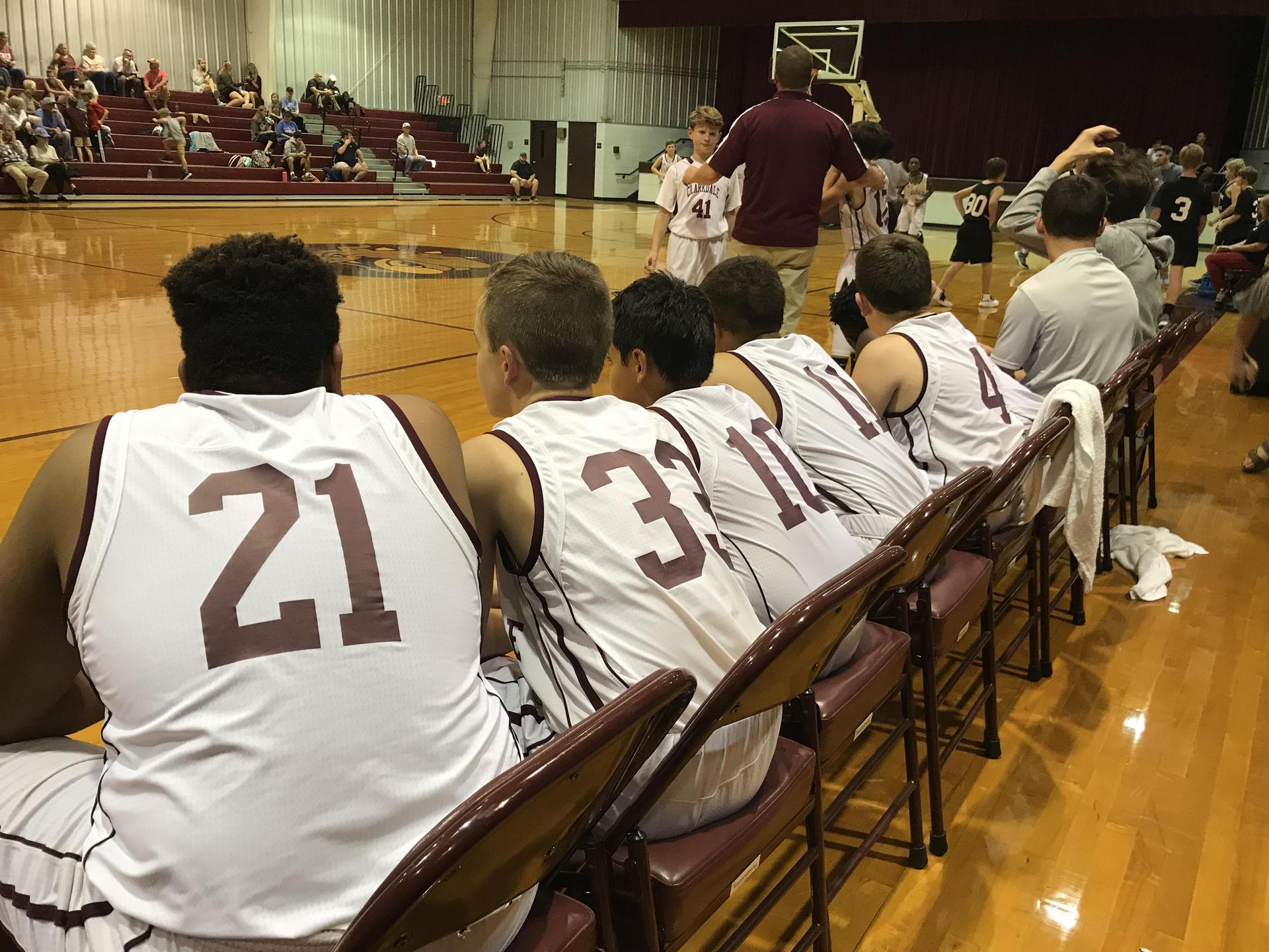 Clarkdale Middle School Boys Basketball Team