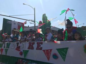 Students on float