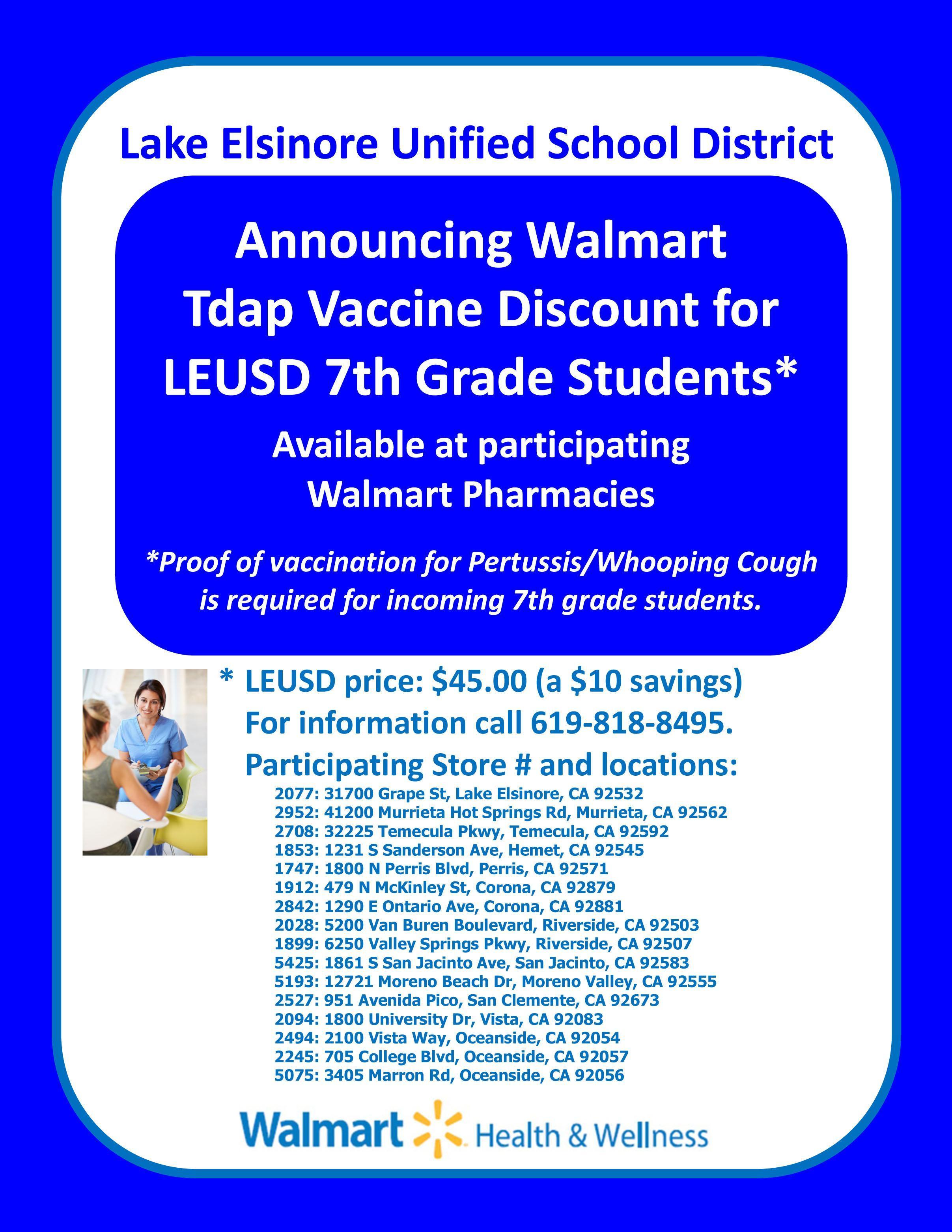 announcing walmart tdap vaccination discount