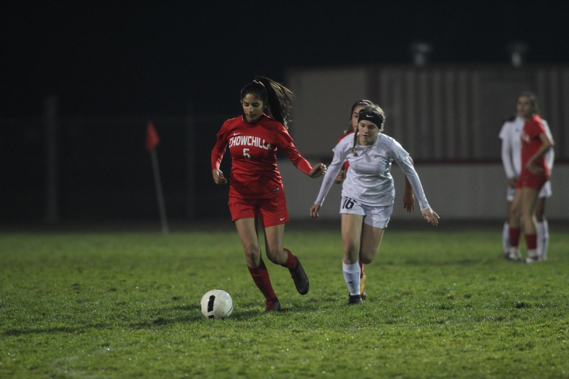 Girls Playing Soccer vs Union