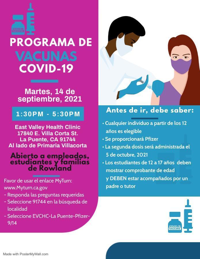 Spanish Covid Vaccine Clinic