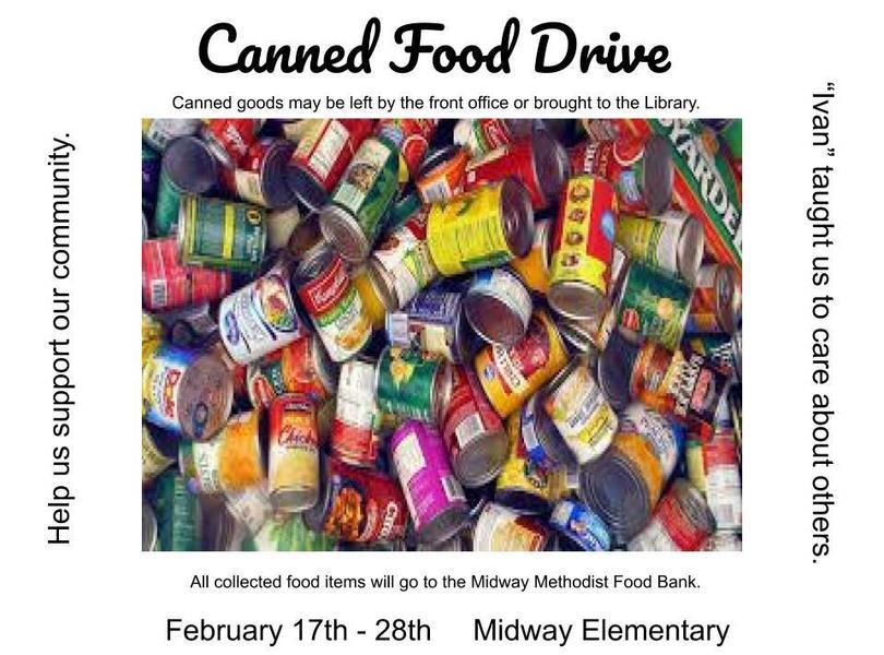 Canned Food Drive Feb 17-28