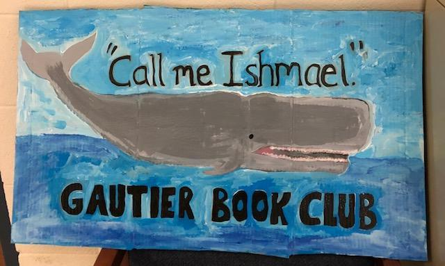 GHS Book Club whale sign
