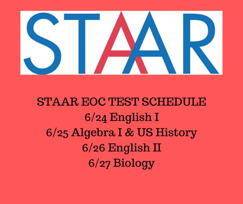 EOC Summer Test Schedule Thumbnail Image