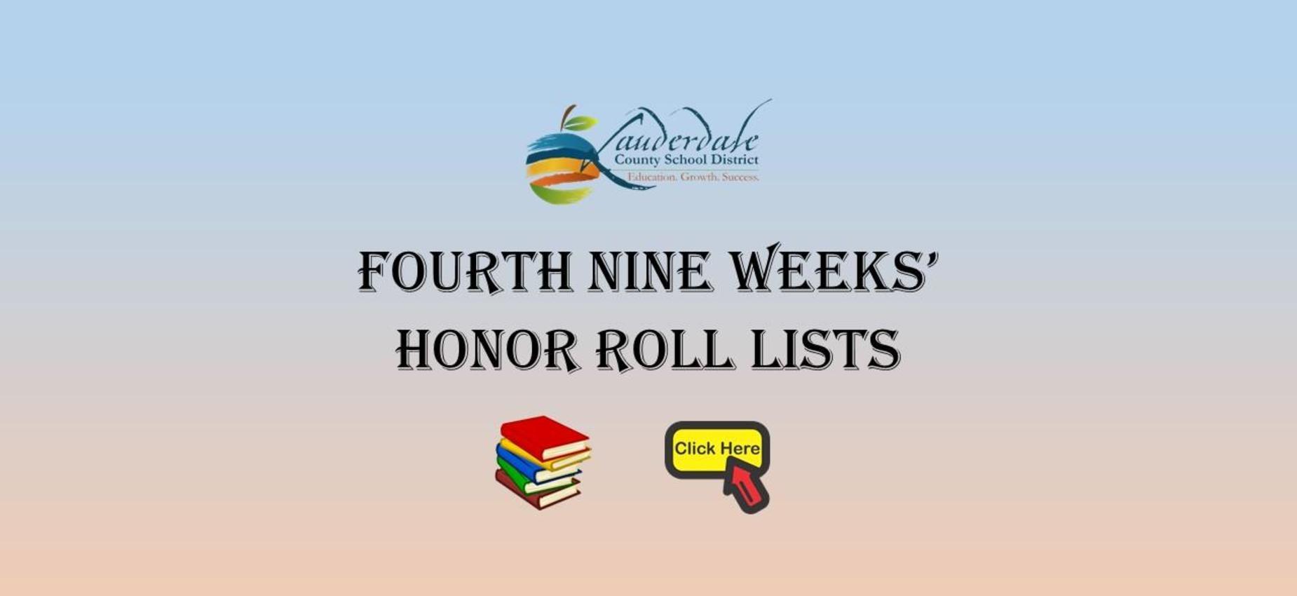 4th Nine Weeks' Honor Roll Lists