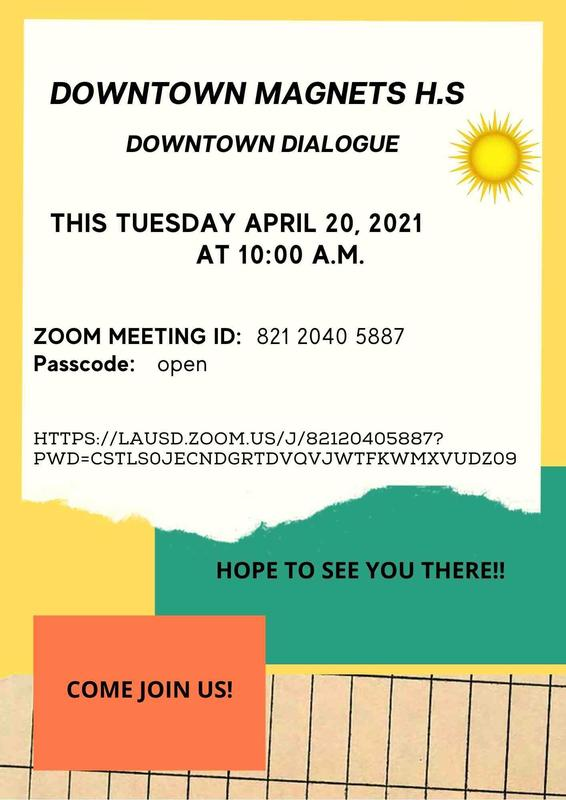 Join us for Downtown Dialogue April 20, 2021 Meeting ID: 821 2040 5887 Passcode: open Featured Photo