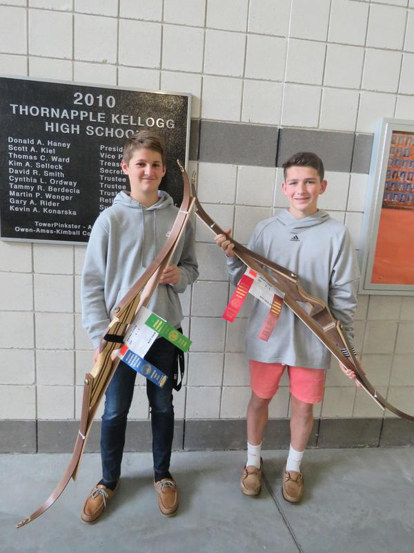 These two students made bows for their woodworking projects.