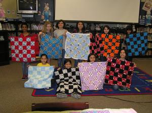 A handful of quilts created by the Perez Quilting Club during the 2017-2018 school year.