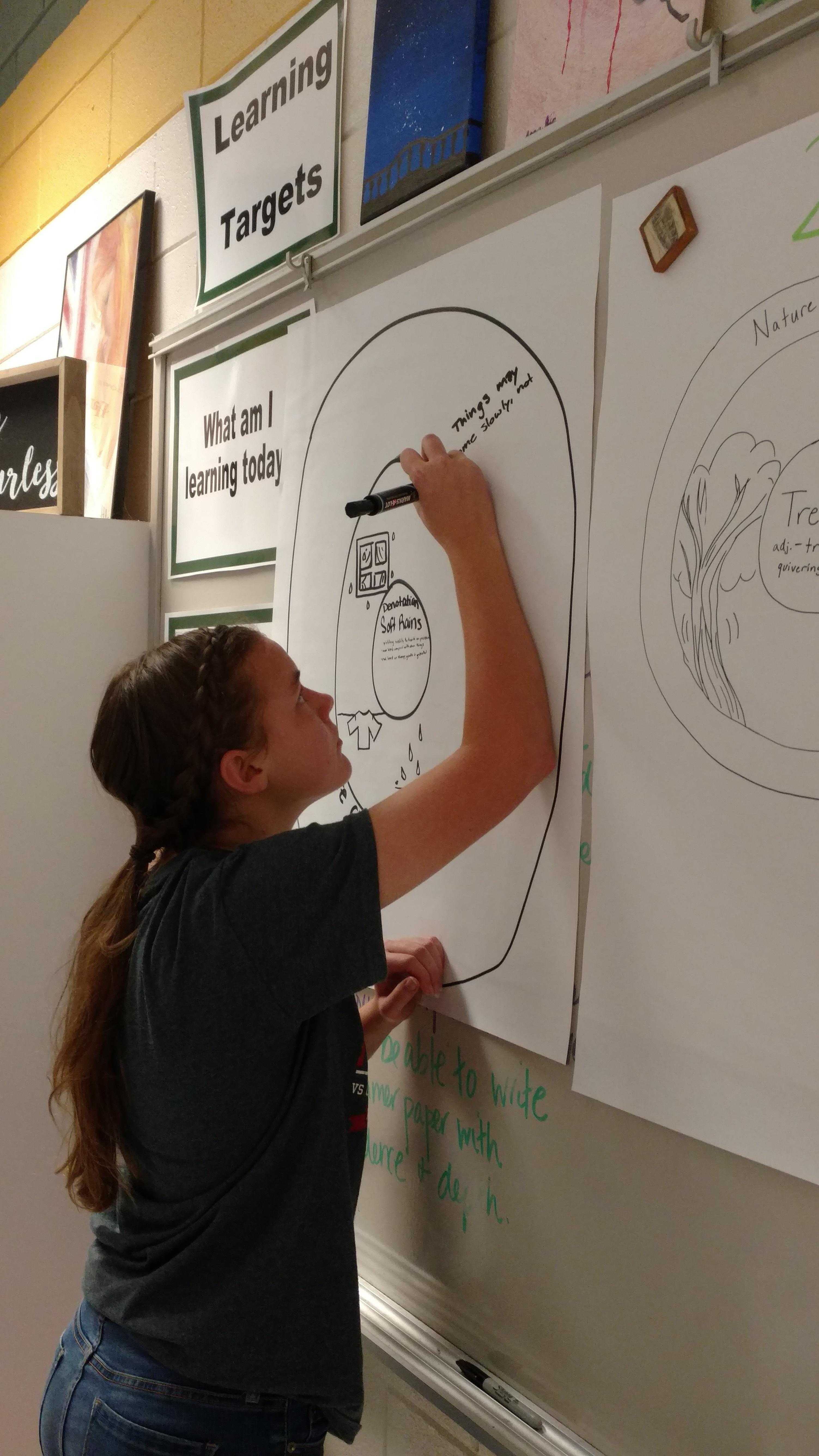 Poetry Pictures - Learning to analyze a poem by word choice