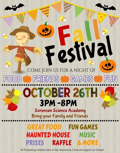 fall festival flyer for sorensen science academy