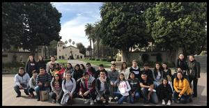CUHSD students touring Santa Clara University