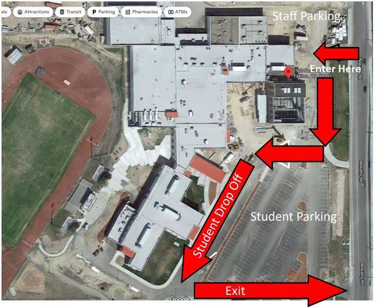 EVHS Parking Map Featured Photo