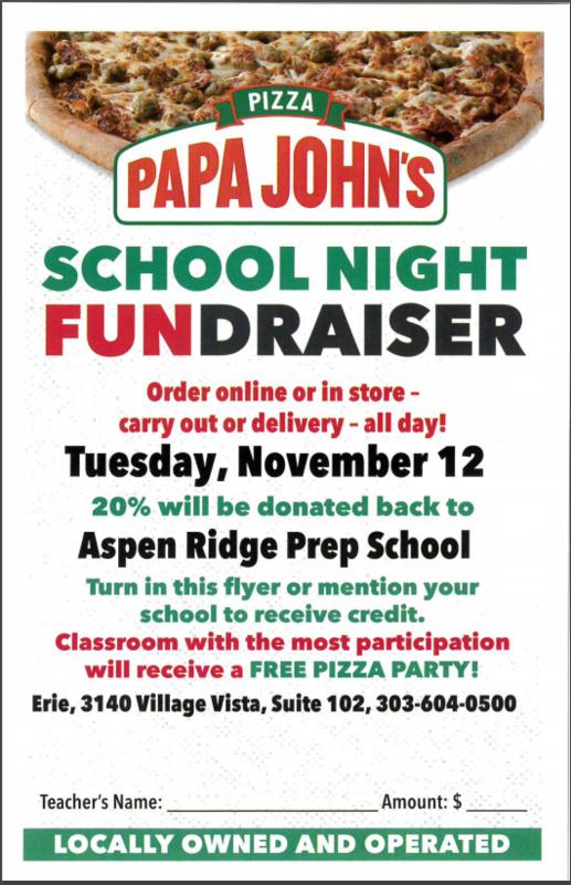 Flyer for Papa John's