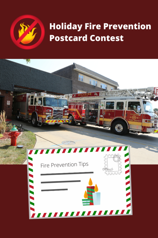 "The Hillside Fire Department is sponsoring a Holiday Fire Safety Awareness postcard contest, ""Shop with a Firefighter"""