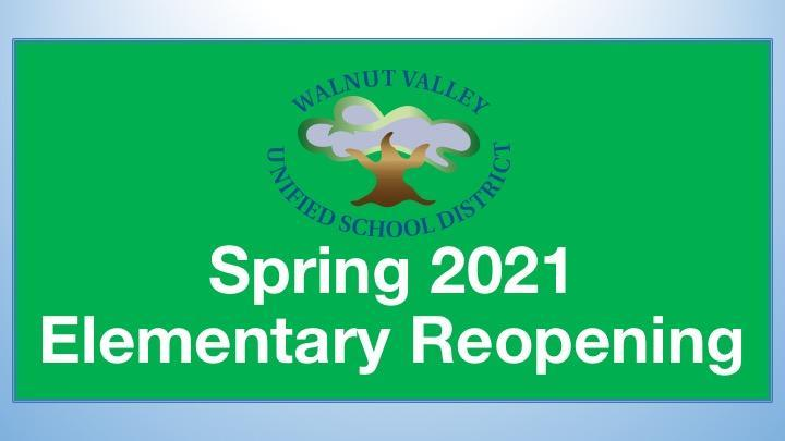 Spring 2021 Elementary Reopening Featured Photo