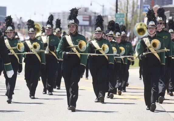 Trombone section in Blossomtime Parade