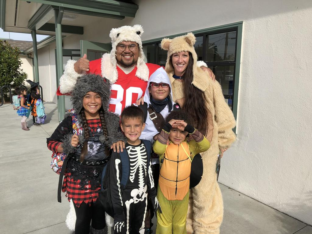 AES family dressed up for Halloween
