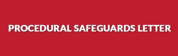 Procedural Safeguards English