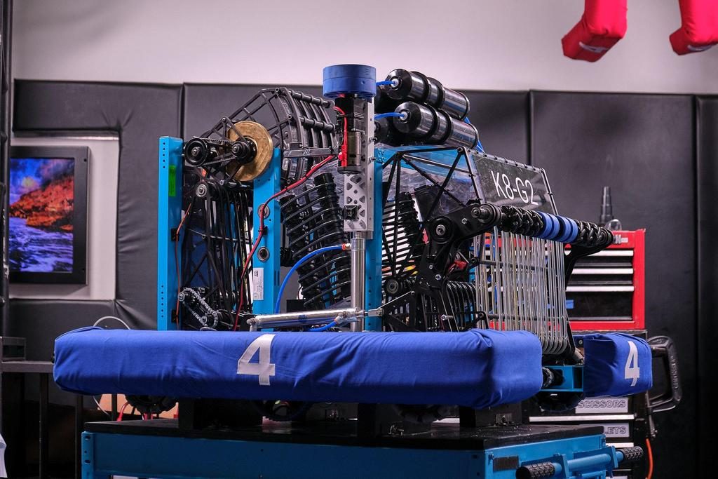 Our 2020 robot: K8-G2; named after Kobe (#8) and Gianna (#2)