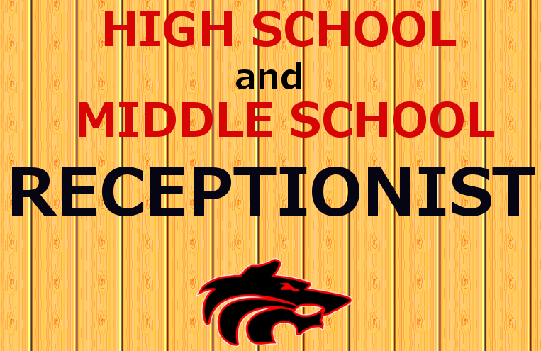Receptionist MS and HS with wolf logo