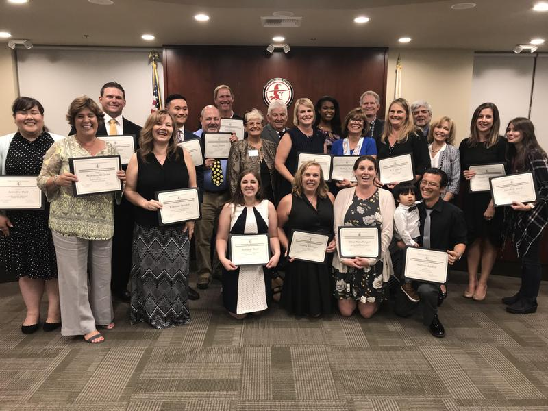 Hart District Governing Board Honoring the 2018 Teachers of the Year